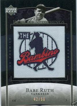 Babe Ruth Patch Card