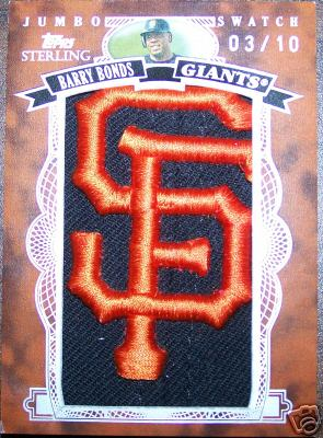 Barry Bonds Jumbo Swatch 3
