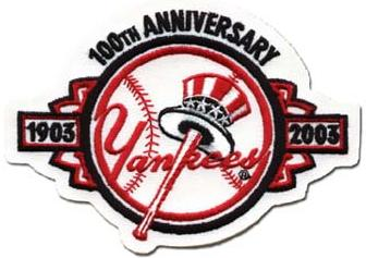 New York Yankees 100th Anniversary Patch