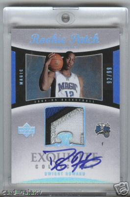 Dwight Howard 04-05 Exquisite Patch Rookie