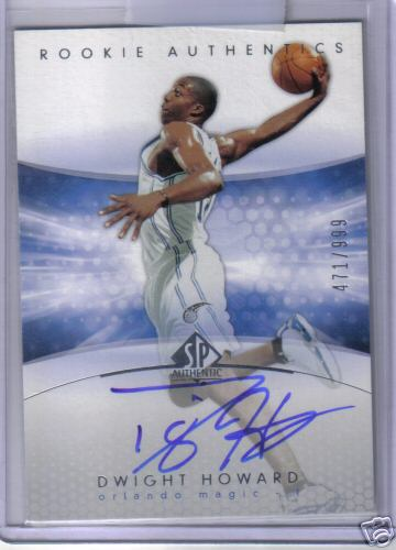 Dwight Howard 04-05 SP Authentic Auto RC